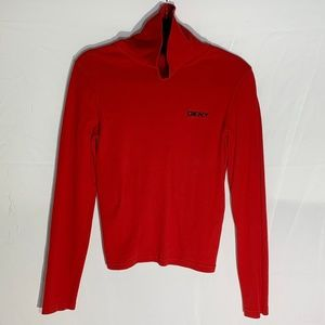 VINTAGE DKNY Red Turtleneck